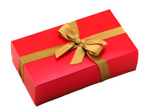 κόκκινο δώρων κιβωτίων τόξω&n Στοκ Φωτογραφίες