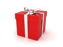κόκκινο δώρων κιβωτίων Στοκ Εικόνα