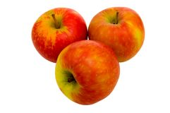 κόκκινο 2 μήλων Στοκ εικόνα με δικαίωμα ελεύθερης χρήσης