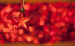 Κόκκινο backcgound με το αστέρι Στοκ εικόνα με δικαίωμα ελεύθερης χρήσης