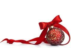 Κόκκινο bal Χριστουγέννων Στοκ φωτογραφίες με δικαίωμα ελεύθερης χρήσης