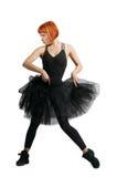 Κόκκινο ballerina που φορά το tutu Στοκ εικόνες με δικαίωμα ελεύθερης χρήσης