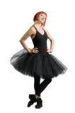 Κόκκινο ballerina που φορά το tutu Στοκ Εικόνες