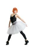 Κόκκινο ballerina που φορά το tutu Στοκ φωτογραφίες με δικαίωμα ελεύθερης χρήσης