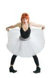 Κόκκινο ballerina που φορά το tutu Στοκ Φωτογραφίες