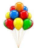 Κόκκινο ballon για το Κόμμα, γενέθλια διανυσματική απεικόνιση