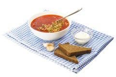 Κόκκινο borscht Στοκ Φωτογραφία