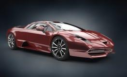 Κόκκινο brandless σπορ αυτοκίνητο Στοκ Εικόνες