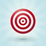 Κόκκινο bullseye Στοκ εικόνες με δικαίωμα ελεύθερης χρήσης