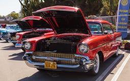 Κόκκινο 1957 Chevrolet Bel Air Στοκ Εικόνα