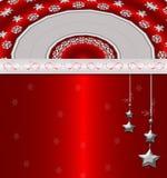 κόκκινο cristmas ανασκόπησης Στοκ Φωτογραφία