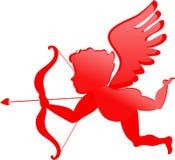 Κόκκινο cupid διανυσματική απεικόνιση