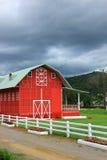 Κόκκινο farmhouse Στοκ Εικόνα