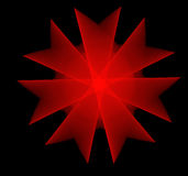 Κόκκινο fractal λουλουδιών ελεύθερη απεικόνιση δικαιώματος