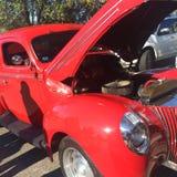 Κόκκινο Hotrod Στοκ φωτογραφίες με δικαίωμα ελεύθερης χρήσης