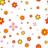 Κόκκινο jointless σχέδιο λουλουδιών Στοκ φωτογραφία με δικαίωμα ελεύθερης χρήσης