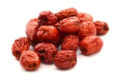 Κόκκινο jujube Φαγώσιμος, καλάθι στοκ φωτογραφία