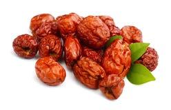 Κόκκινο jujube Φαγώσιμος, καλάθι στοκ εικόνα