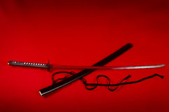κόκκινο katana Στοκ εικόνα με δικαίωμα ελεύθερης χρήσης