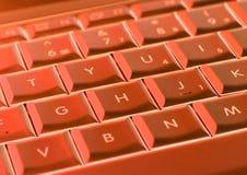 κόκκινο lap-top πληκτρολογίων Στοκ Εικόνα