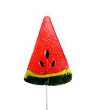 Κόκκινο Lollipop στη μορφή Στοκ Εικόνες