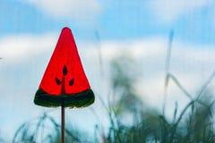 Κόκκινο Lollipop στη μορφή Στοκ εικόνα με δικαίωμα ελεύθερης χρήσης