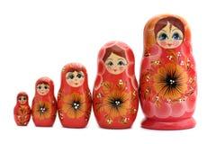 κόκκινο matrioshka Στοκ Εικόνες