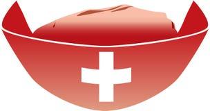 κόκκινο medica καπέλων Στοκ Εικόνα