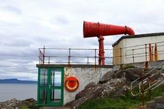 Κόκκινο misthorn ένας φάρος στη Σκωτία Στοκ φωτογραφία με δικαίωμα ελεύθερης χρήσης