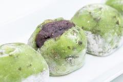Κόκκινο mochi φασολιών γλυκών Στοκ Εικόνα