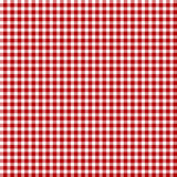Κόκκινο picnic ύφασμα Στοκ φωτογραφίες με δικαίωμα ελεύθερης χρήσης