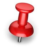 Κόκκινο pushpin Στοκ εικόνες με δικαίωμα ελεύθερης χρήσης