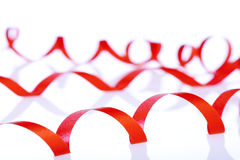 κόκκινο ribbom Στοκ φωτογραφίες με δικαίωμα ελεύθερης χρήσης