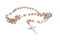 κόκκινο rosary Στοκ Φωτογραφίες