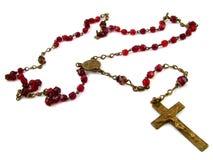κόκκινο rosary Στοκ Εικόνες