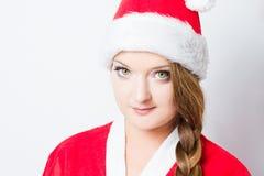 κόκκινο santa κοριτσιών ενδυ&m Στοκ φωτογραφία με δικαίωμα ελεύθερης χρήσης