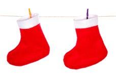κόκκινο santa Claus Χριστουγέννων &m Στοκ φωτογραφίες με δικαίωμα ελεύθερης χρήσης
