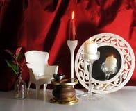 κόκκινο scenography κουρτινών Στοκ φωτογραφία με δικαίωμα ελεύθερης χρήσης