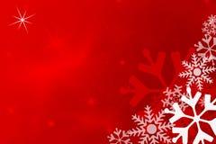 κόκκινο snowflake ανασκόπησης Στοκ φωτογραφίες με δικαίωμα ελεύθερης χρήσης