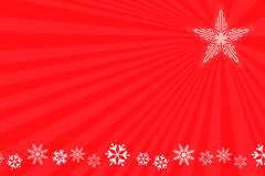 κόκκινο snowflake ανασκόπησης Στοκ εικόνα με δικαίωμα ελεύθερης χρήσης