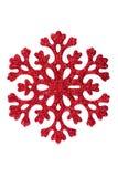 Κόκκινο snowflake στην άσπρη ανασκόπηση Στοκ Εικόνες