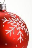 κόκκινο snowflake Χριστουγέννων μ Στοκ φωτογραφία με δικαίωμα ελεύθερης χρήσης