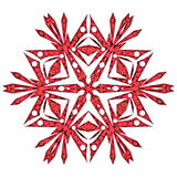 Κόκκινο snowflake Στοκ εικόνα με δικαίωμα ελεύθερης χρήσης