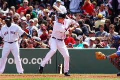 κόκκινο sox της Βοστώνης jed lowrie στοκ φωτογραφία