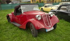 Κόκκινο Tatra 57 αθλητισμός - 1935 Στοκ Φωτογραφία