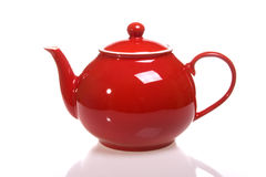 κόκκινο teapot στοκ φωτογραφία με δικαίωμα ελεύθερης χρήσης