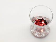 κόκκινο tinsel γυαλιού Στοκ Φωτογραφίες