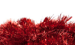 κόκκινο tinsel στοκ φωτογραφίες