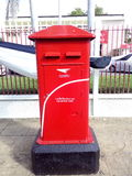 κόκκινο travle ταχυδρομικών κουτιών της Νορβηγίας Στοκ φωτογραφία με δικαίωμα ελεύθερης χρήσης