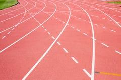 κόκκινο treadmill σταδίων Στοκ εικόνα με δικαίωμα ελεύθερης χρήσης